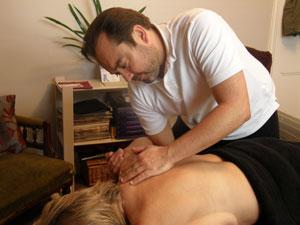 Peter giving a Deep Tissue Massage